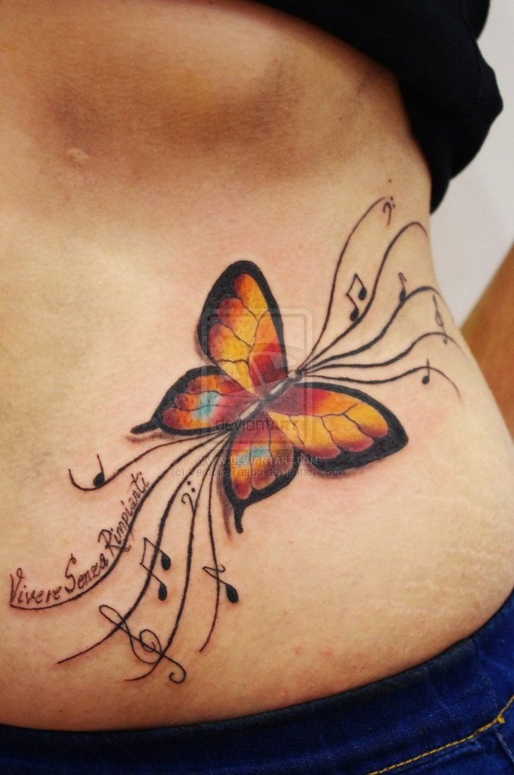 95 gorgeous butterfly tattoos the beauty and the - 728×1096