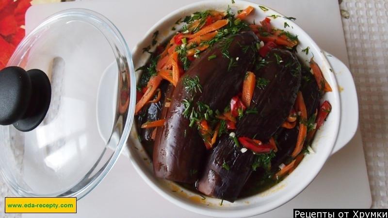 квашеные баклажаны с чесноком простые рецепты