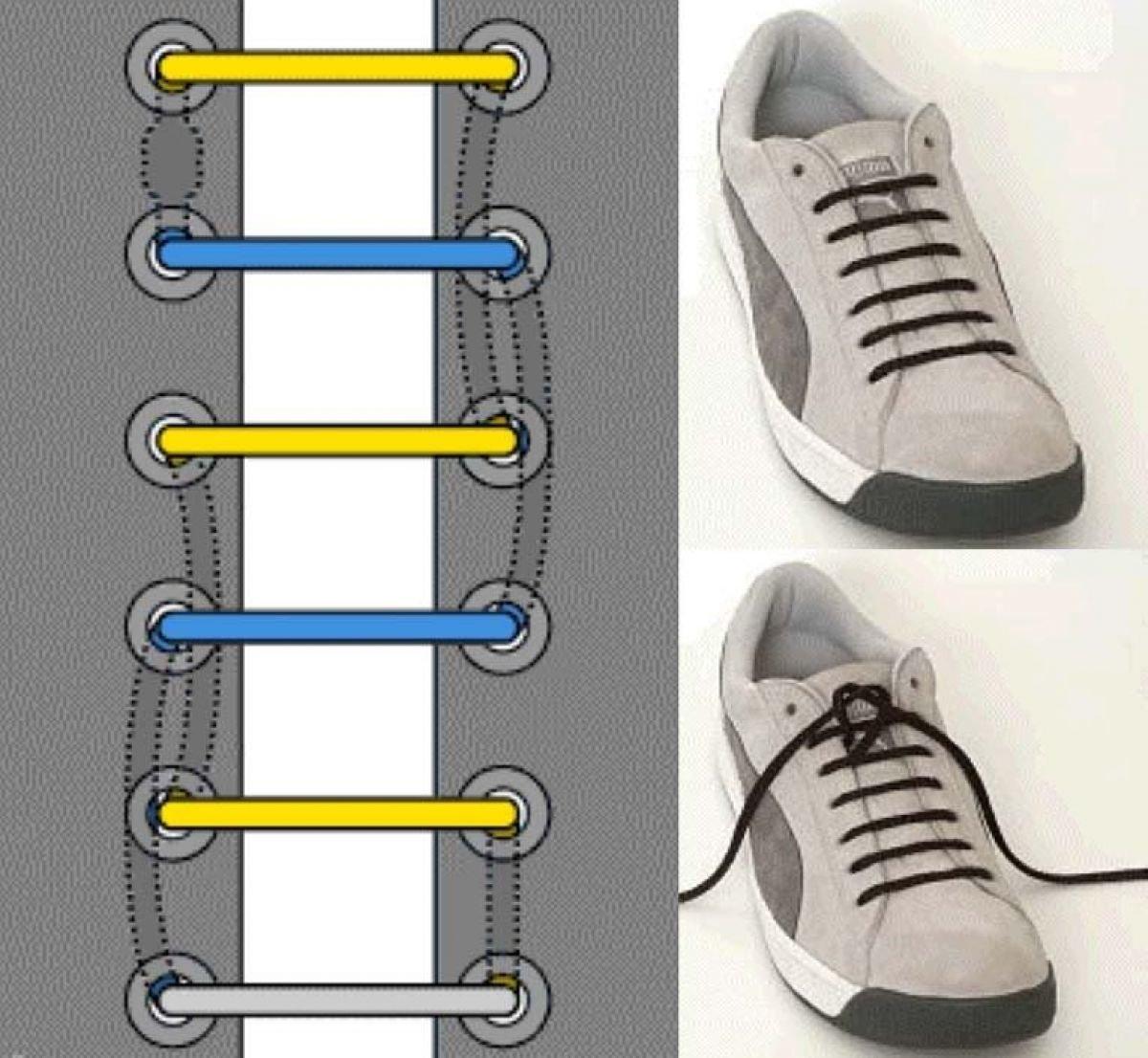 Картинки как прикольно завязывать шнурки на кроссовках