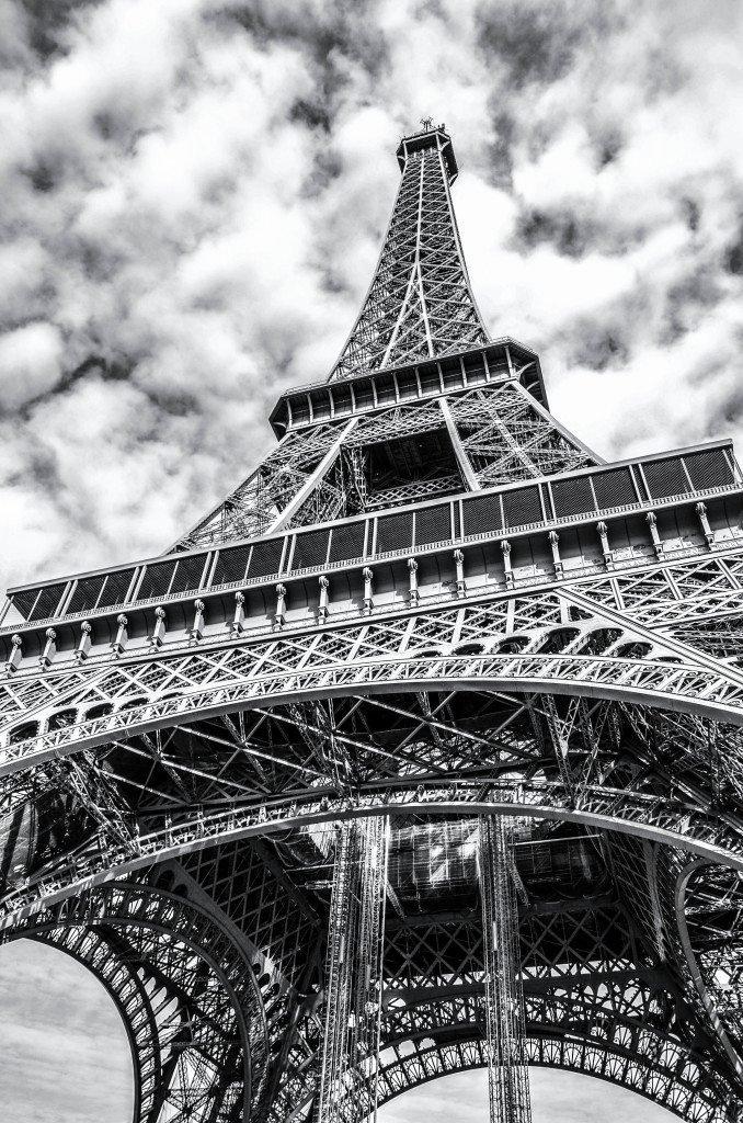 Картинки черно белые фото парижа