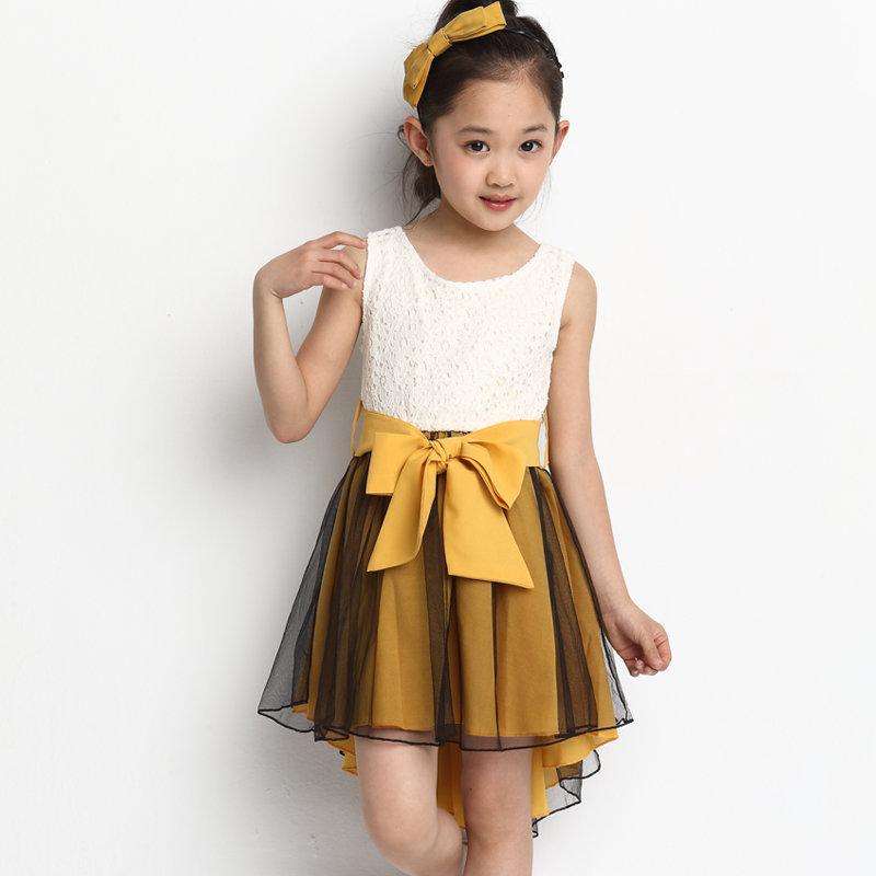 модное кароткое платье для девочки