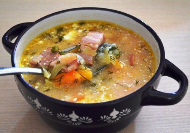 Суп на овощном бульоне