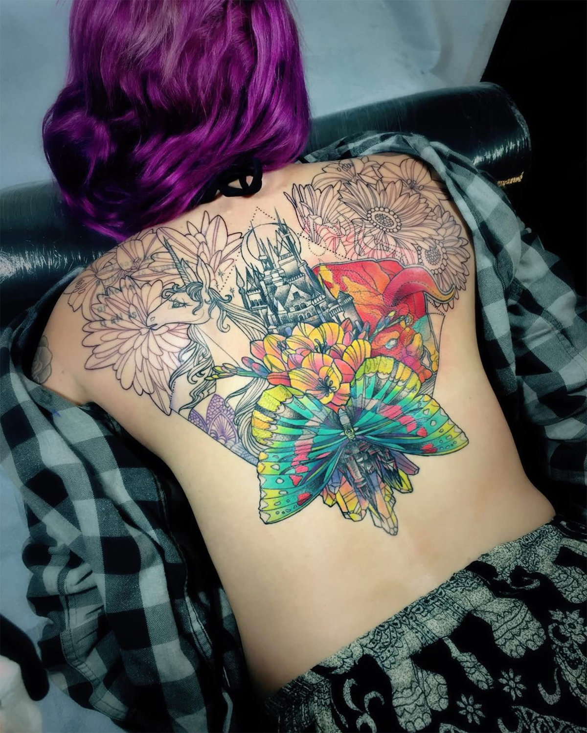 Candy Colored Tattoos A Trippy Tattoo Of Psychedelic Fractal