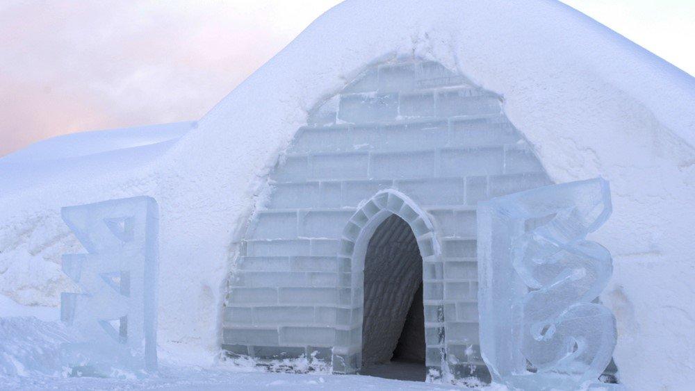 ледяной дом своими руками