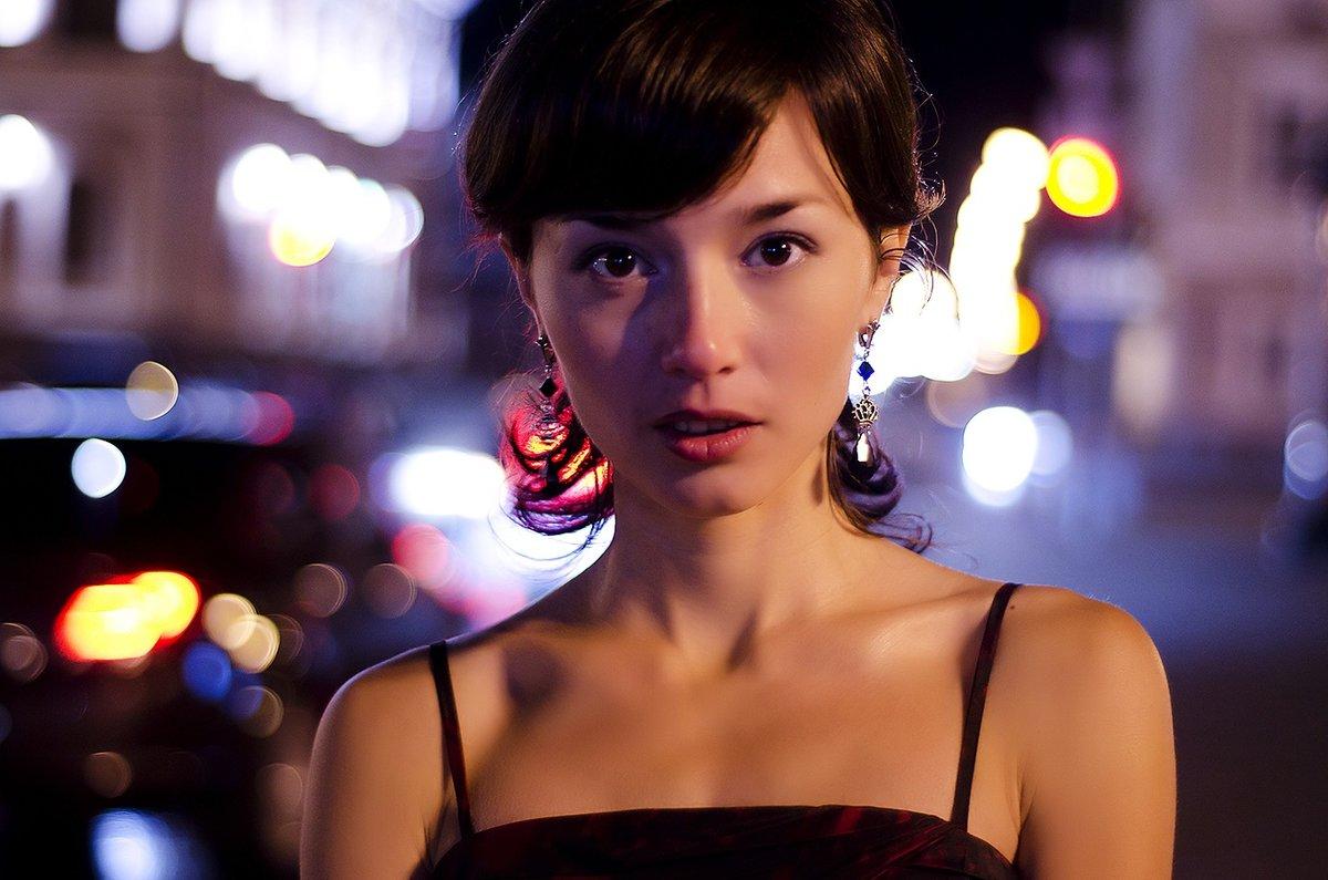 как фотографировать портрет в ночном городе интересную работу своей