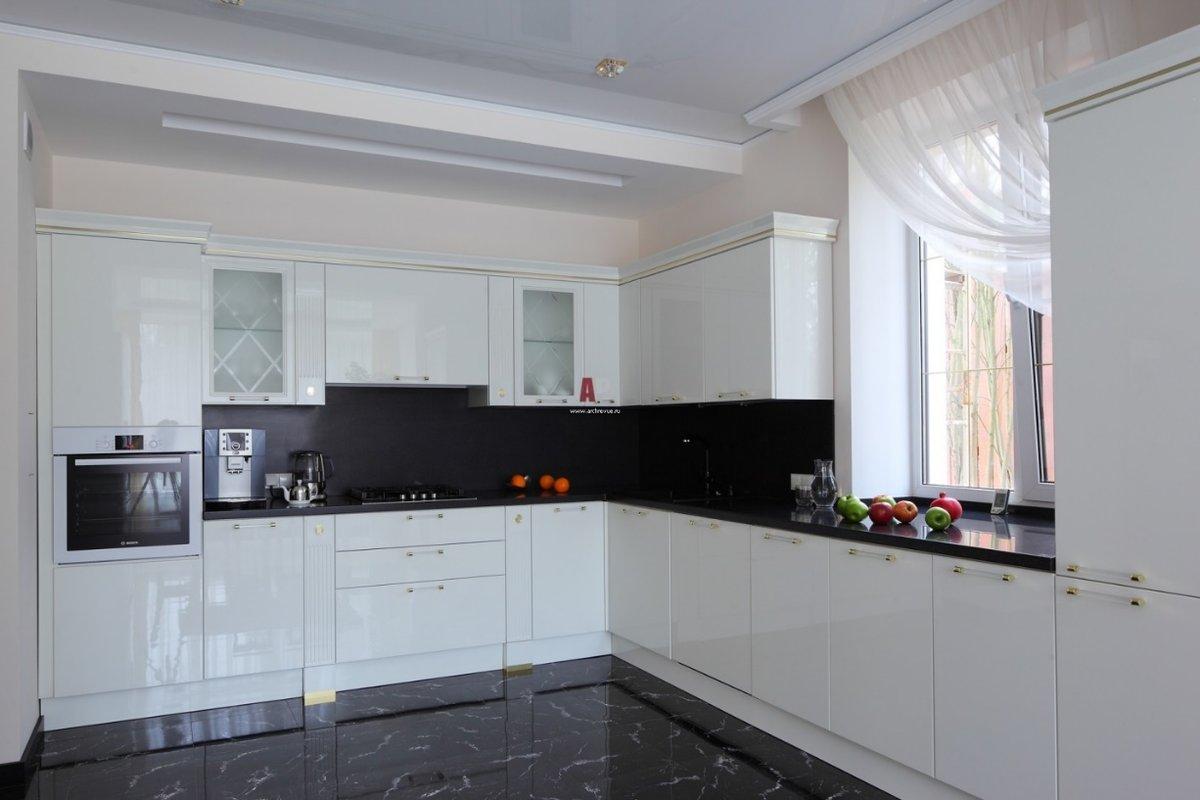 черно белая угловая кухня карточка пользователя Bulacheva