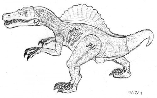 Jurassic World Suchomimus coloring page | Free Printable Coloring ... | 314x500