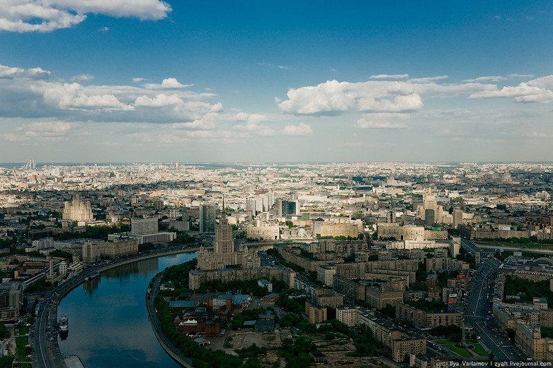 Москва фото города с высоты птичьего полета