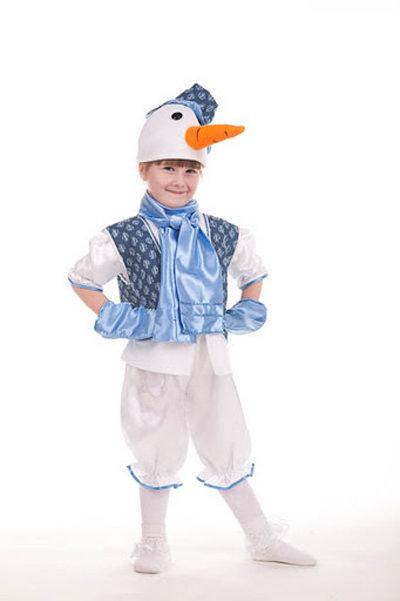 Детский костюм снеговика