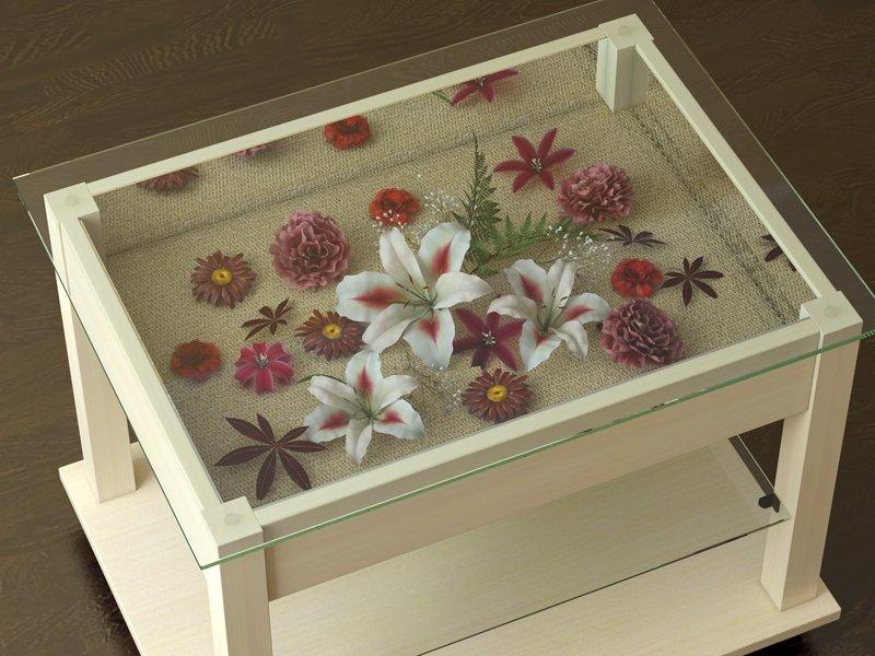 """Цветочный декор стола под стеклом"""" - карточка пользователя e."""