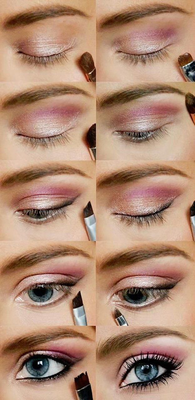 Makeup Tutorial For Blue Eyes For 1000 Ideas About Eyeshadow Blue