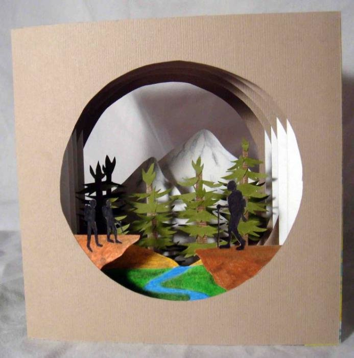 Новогодняя открытка на тему экология, гиф