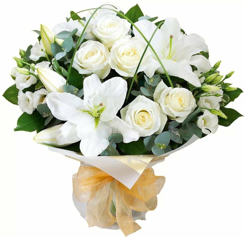 Цветы доставкой, букеты лилии с розами