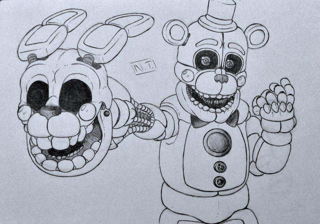 Картинки аниматроников нарисовать