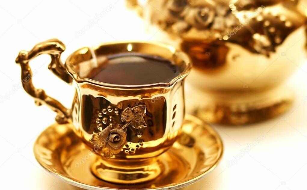 Анимация чай кофе золотые картинки
