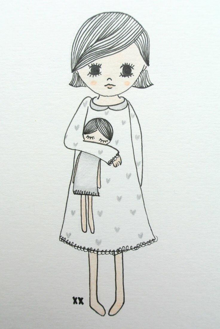 Рисунки для скетчбука девочки легкие