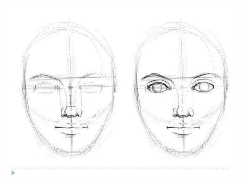 в картинках как нарисовать лицо человека поэтапно карандашом всегда найдёте