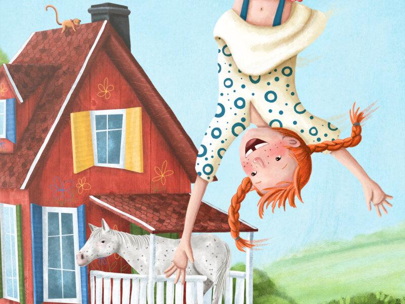 Картинки пеппи длинный чулок для детей