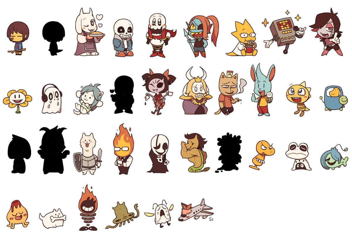 это персонажи из игры андертейл информация его очертания