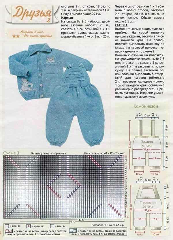 вязаные костюмы для малышей спицами рисунки и схемы квартира