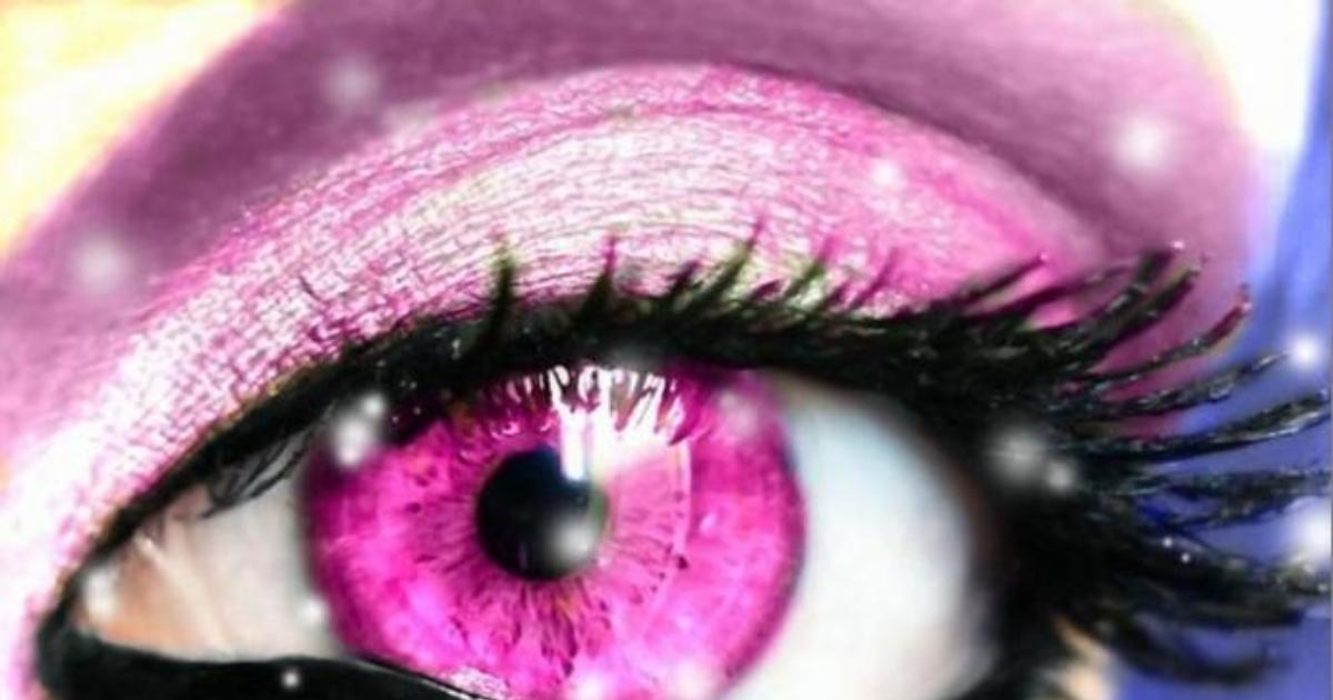 Розовые глаза картинка