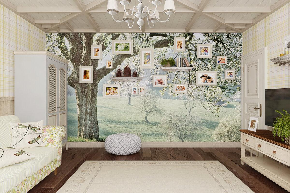 Картинки во французском стиле нарисованные для оформления стены в комнате, пожелания доброго утра