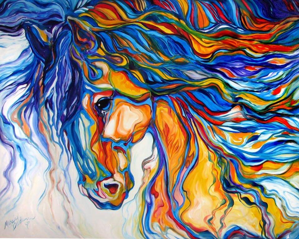 Рисунки из цветных ниток