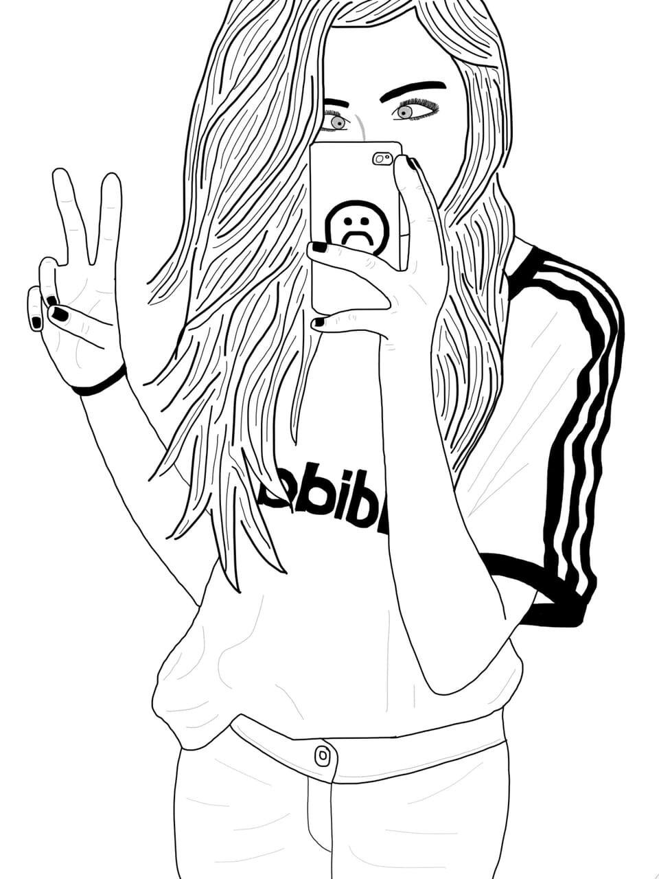 Черно-белые картинки для распечатки крутые для девочек