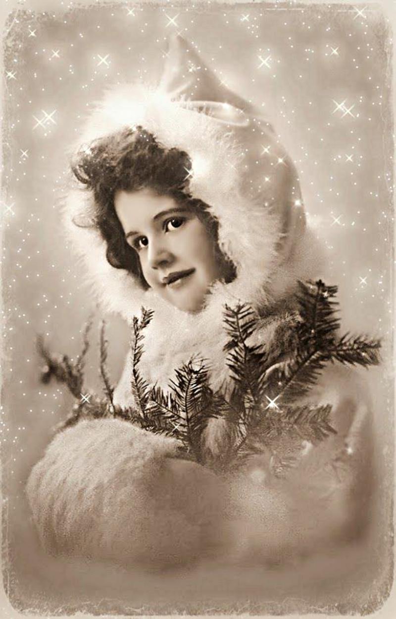 зелёный открытка новогодняя старинная фото тому поставили