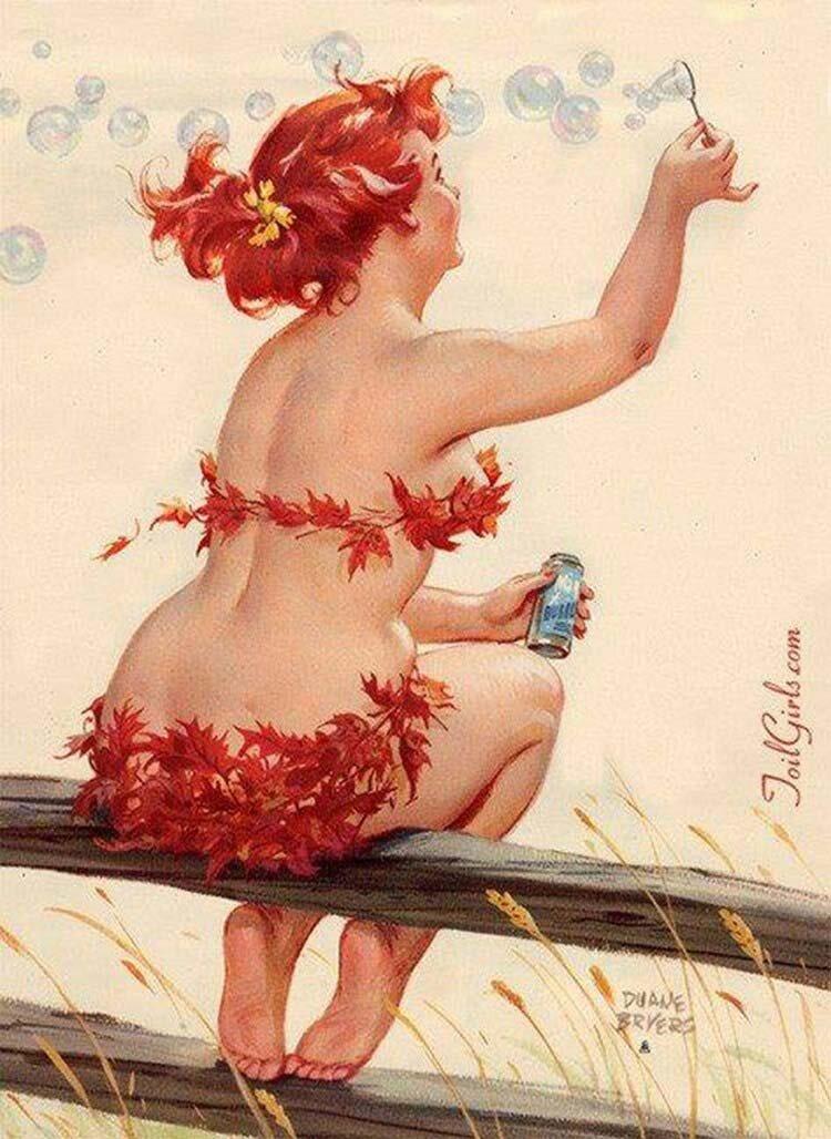 Женский праздник, рисованные картинки смешные женщины