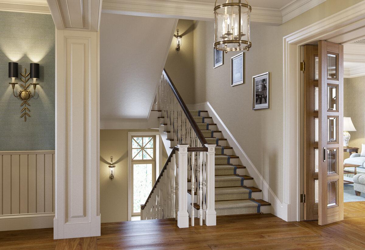 это обои над лестницей фото могут быть валы