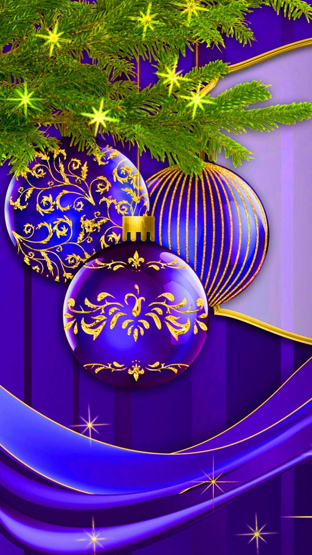 Картинка обои на телефон новогодние