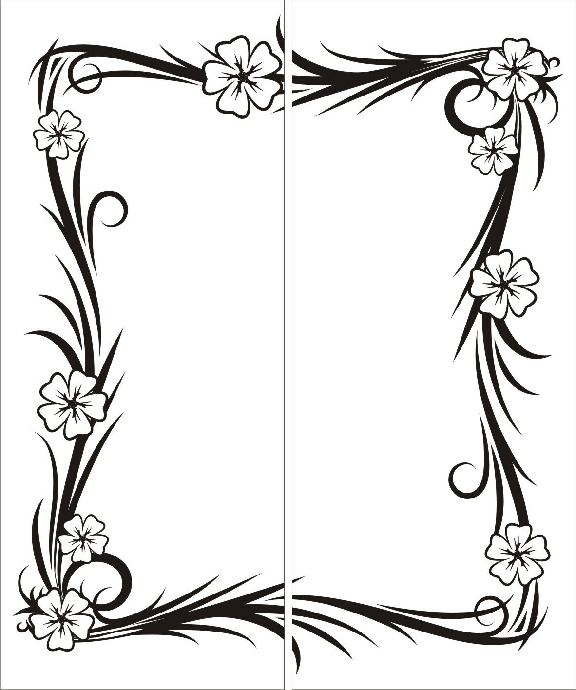Графическая рамка для открыток