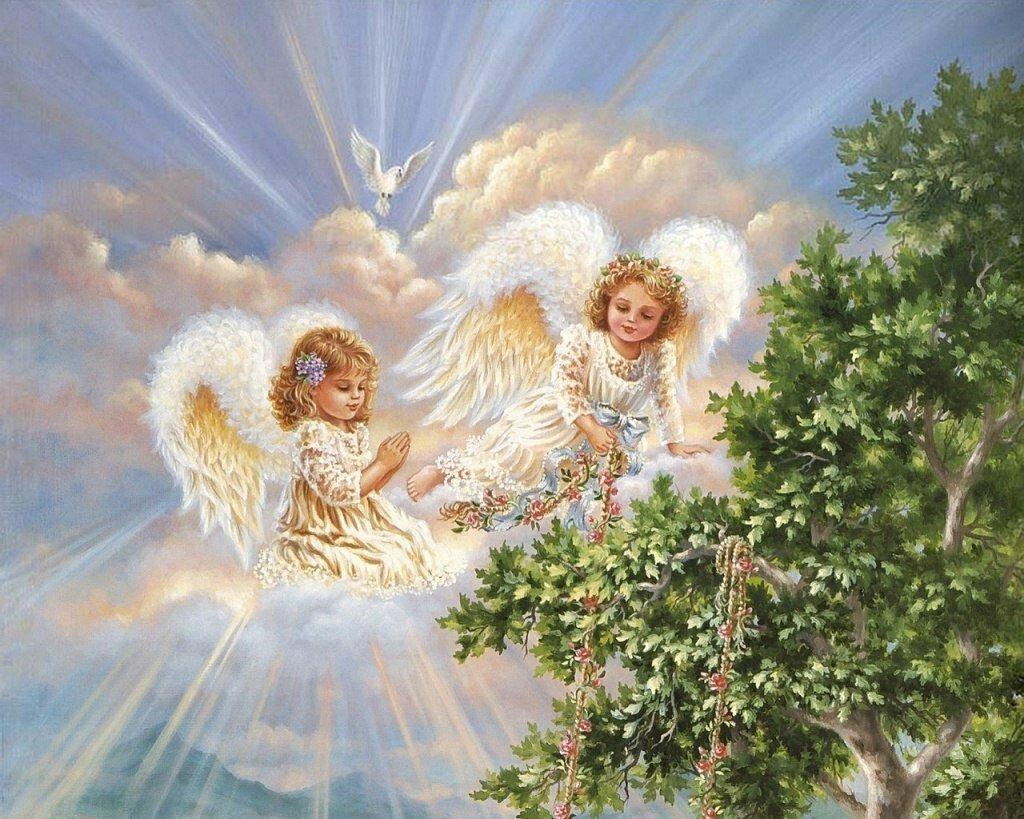 Ангел крещение открытка