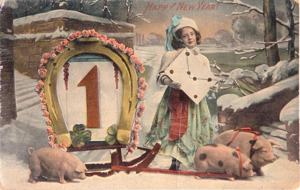 Для, новогодние открытки фото старинные