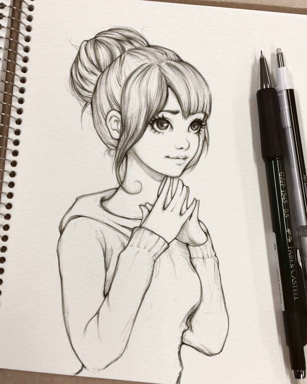 Cute manga girl sketch bing images card from user вита б in yandex collections