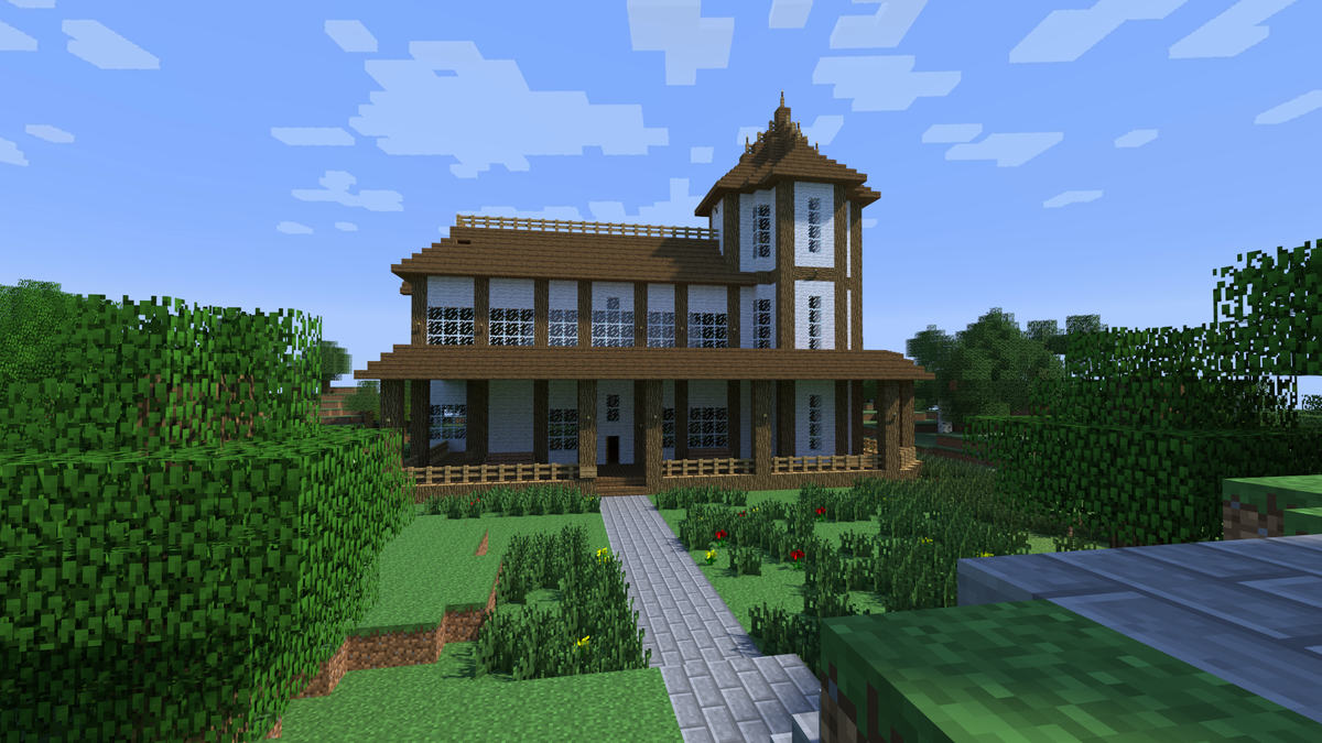 Дома майнкрафт из дерева картинки