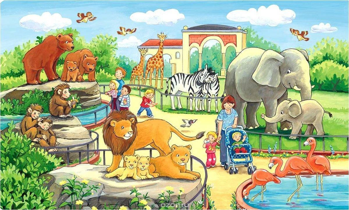 Картинки зоопарк для детского сада, открытки февраля
