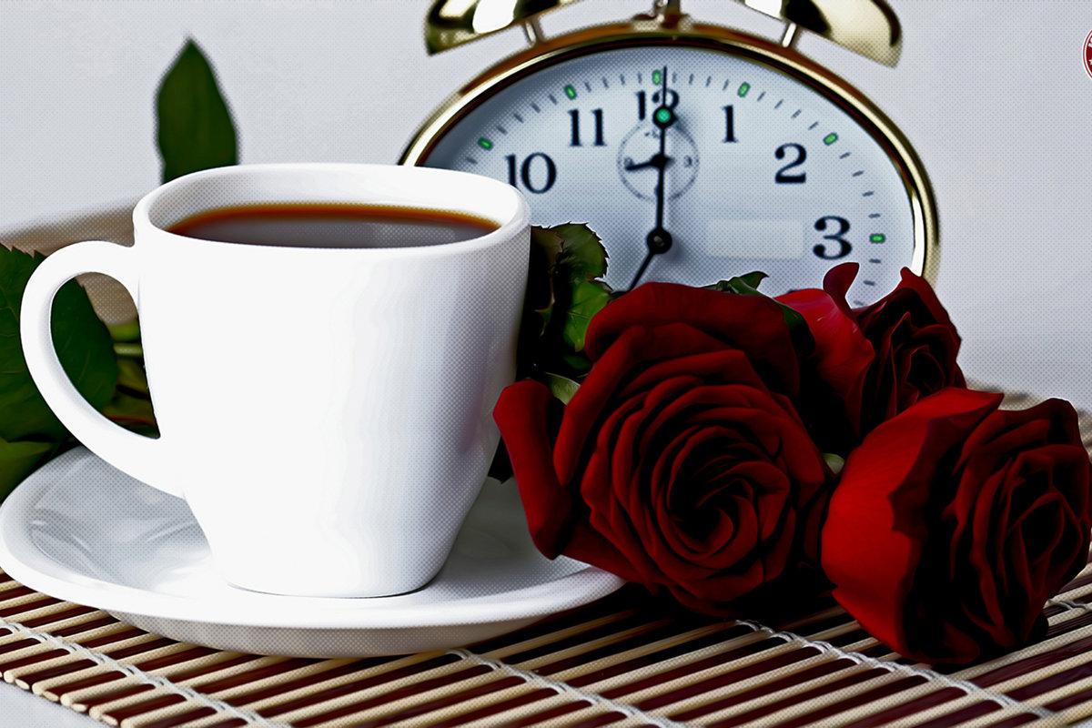 Тебе картинки, роза открытки кофе доброе утро