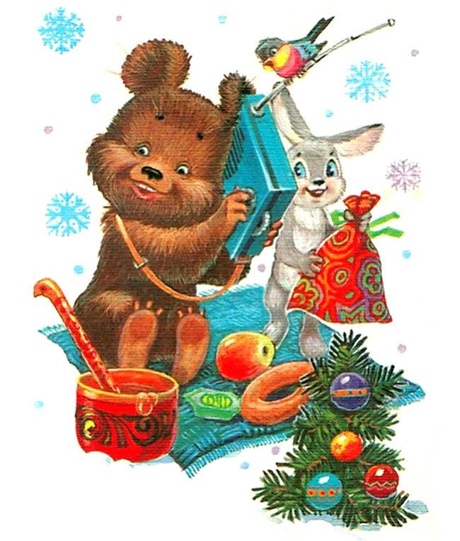 Советские новогодние картинки в большом разрешении, прикольные