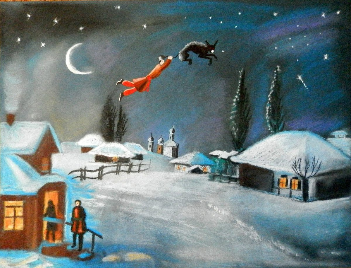 Вечера на хуторе близ диканьки картинки и рисунки легкие, пожеланиями спокойной