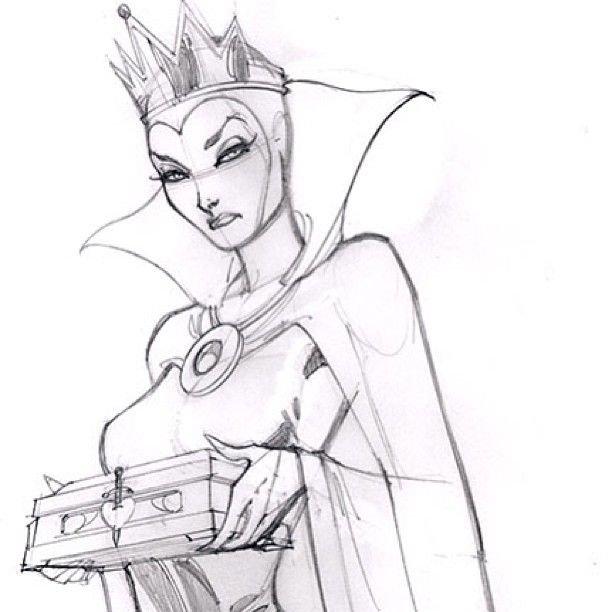 Марта, снежная королева рисунок