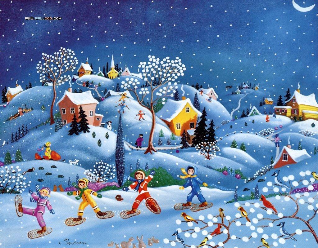 Про зиму детям картинки