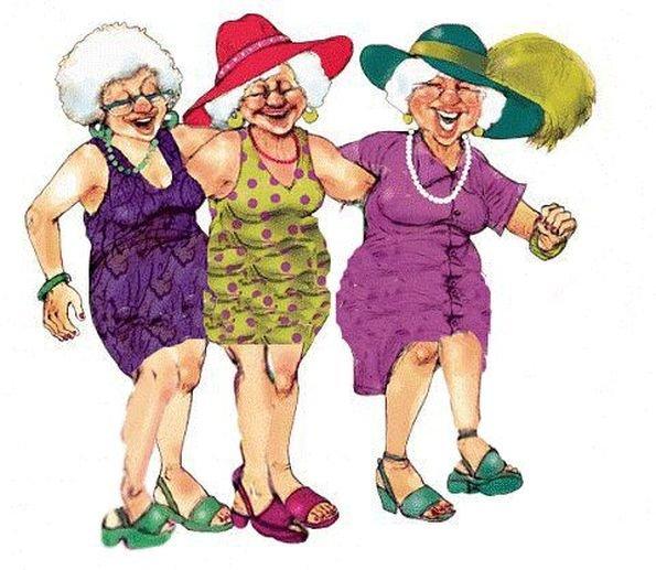 сверху смешные картинки танцующих старушек отличие