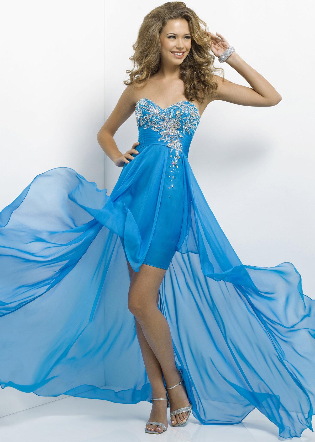 Картинки красивых голубых платьев