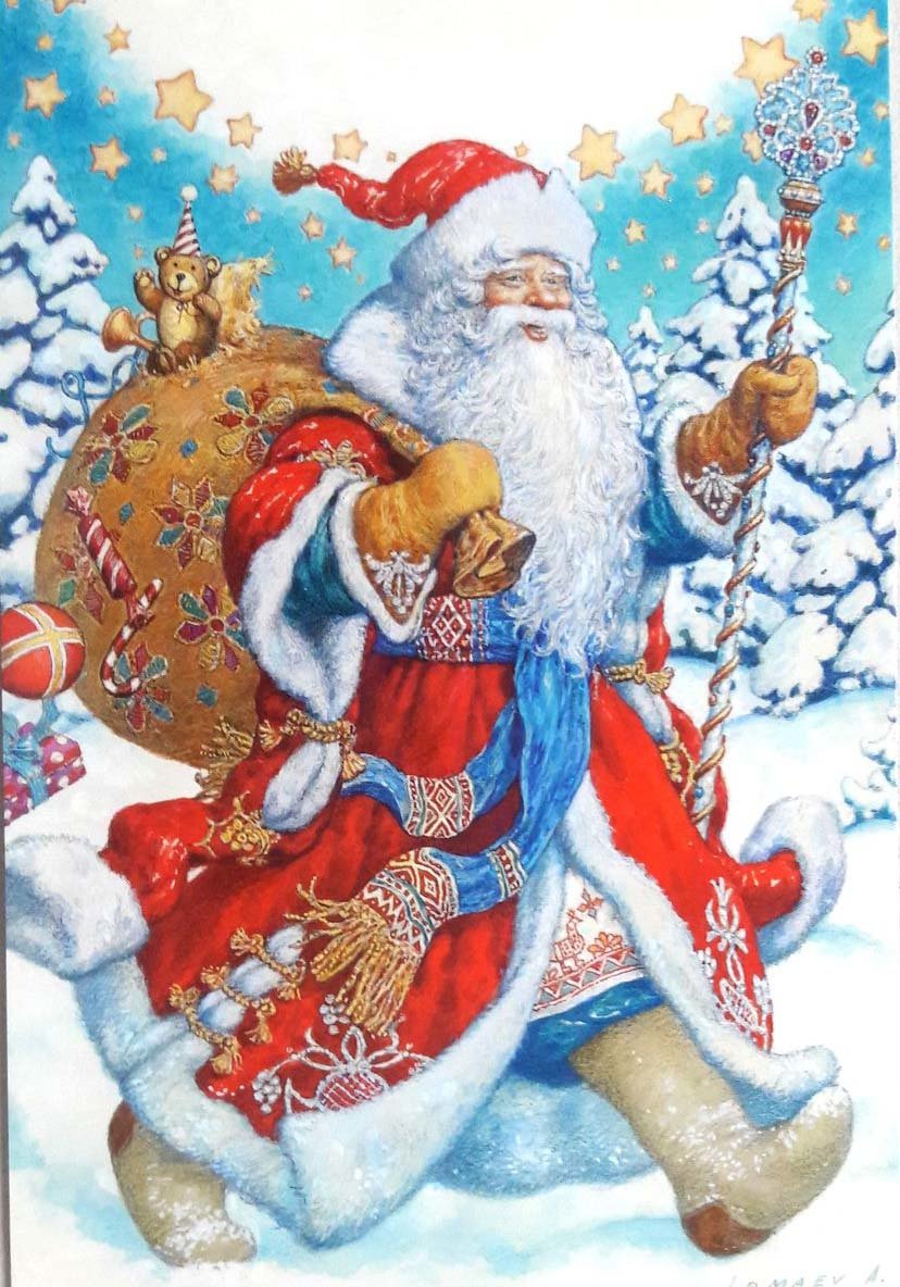 Новогодние открытки снегурочка и дед мороз, киригами марта прикол