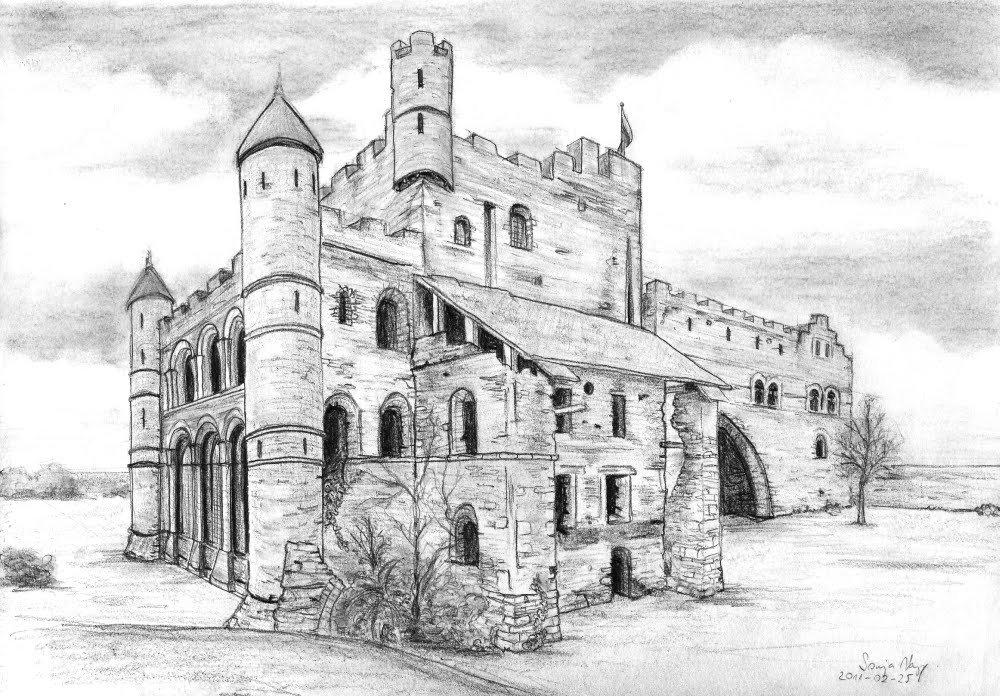 крепость черно белый рисунок дженсен посвятил свою