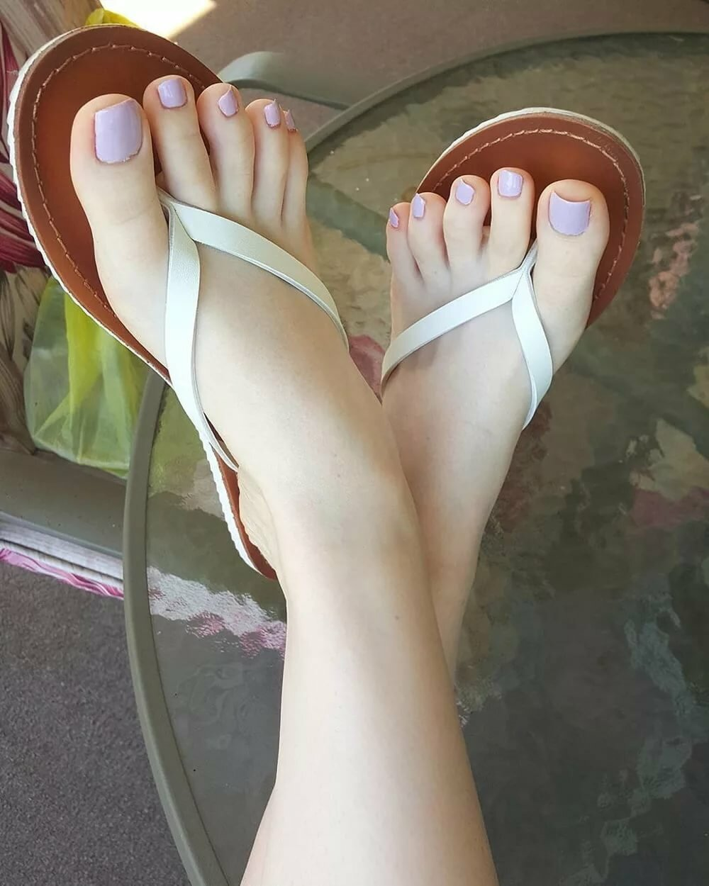Female sexy painted feet