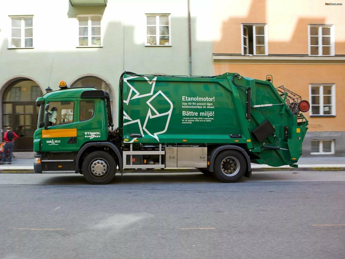 фото машины мусоровоза самых