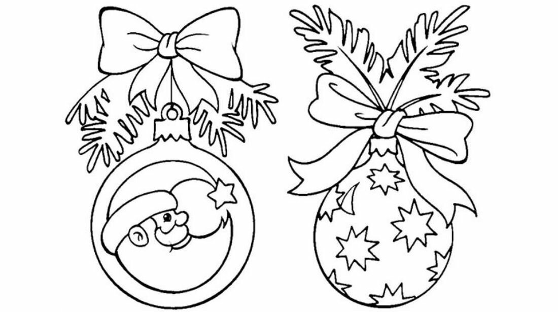 Картинки на окна из бумаги к новому году веточки с шарами